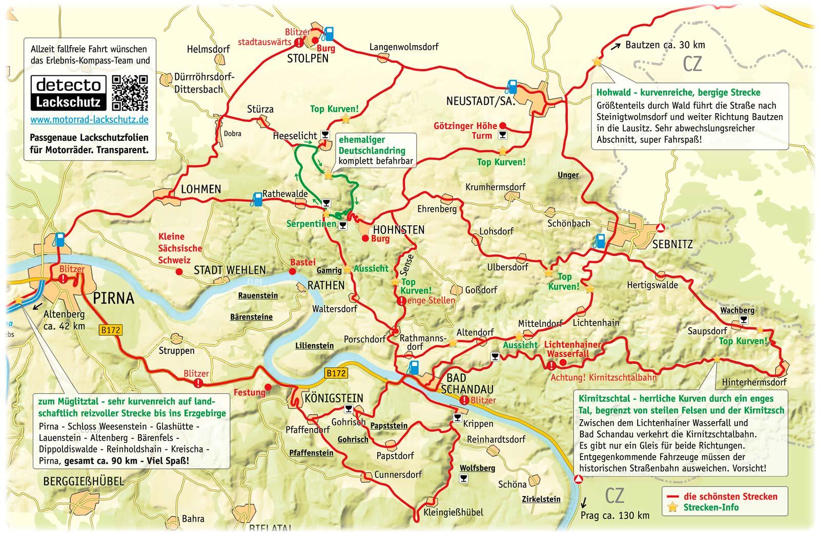 Motorradtouren Erlebnis Kompass Sachsische Schweiz